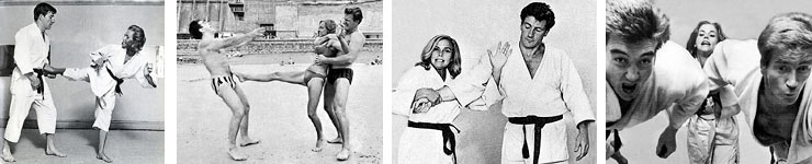 Joe with Honor Blackman and Brother Doug